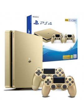 Sony PlayStation 4 Slim PS4 500 GB 2 Gold Controllers Limited Edition